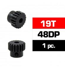 HSS STEEL 48DP PINION GEAR 19T W/3.17mm BORE - ULTIMATE - UR4314-19
