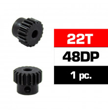 HSS STEEL 48DP PINION GEAR 22T W/3.17mm BORE - ULTIMATE - UR4314-22