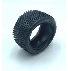 Pair of 1/10 Tyres Minipin Hard rear - HOT RACE