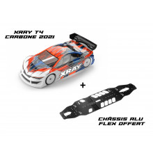 Combo Kit Xray T4 Graphite 2021 + FREE Flex Alu Chassis Alu 301006