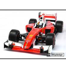 F1 Type-6C 1/10 clear body Light - BITTYDESIGN - BDF1-T6C