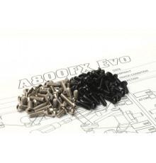 A800FX EVO Titan/Alloy Hex Socket Screw Set - HIRO SEIKO - 48662